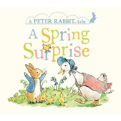 A Spring Surprise - (Peter Rabbit) by  Beatrix Potter (Board Book)