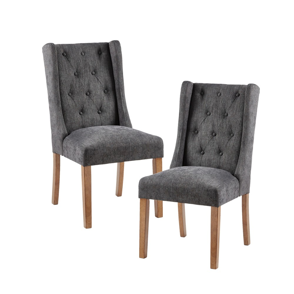 Set of 2 Islia Dining Chair Charcoal (Grey)
