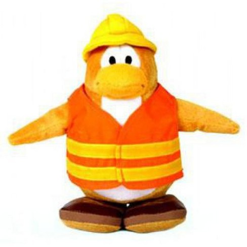 Club Penguin Construction Worker 6.5-Inch Plush Figure - image 1 of 1