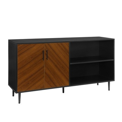 "Bookmatch Asymmetrical Console TV Stand for TVs up to 65"" - Saracina Home"