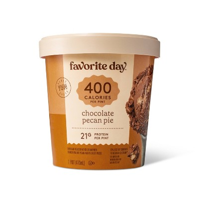 Reduced Fat Chocolate Pecan Pie Ice Cream -16oz - Favorite Day™
