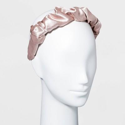 Satin Puff Scrunch Headband - A New Day™