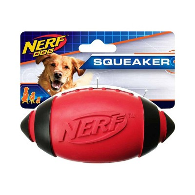 """NERF Classic Squeak Football Dog Toy - Red - 5"""""""