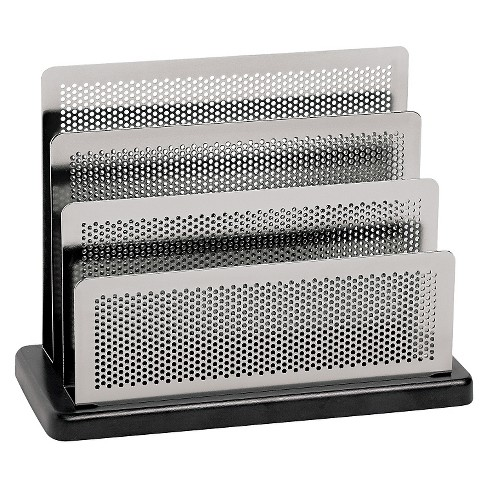 Rolodex™ Mini Sorter, Three Stepped Sections, 7 1/2 x 3 1/2 x 5 3/4, Metal/Black - image 1 of 1
