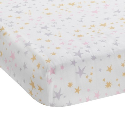 Bedtime Originals Baby Fitted Crib Sheet - Rainbow Unicorn