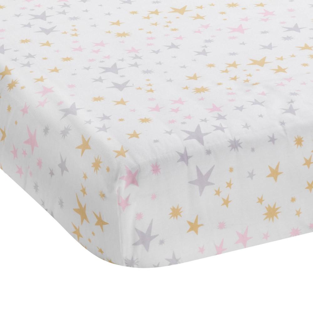 Image of Bedtime Originals Baby Fitted Crib Sheet - Rainbow Unicorn