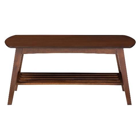 Sacramento Mid Century Modern Scandinavian Style Coffee Table Dark Walnut Baxton Studio Target
