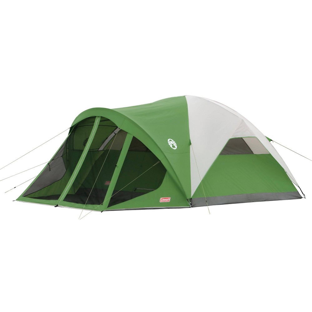 Image of Coleman Evanston Dome 6-Person Screened Tent - Green