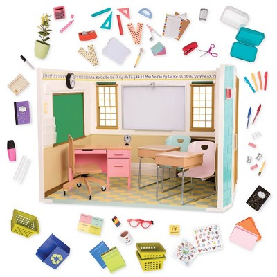 Doll Back to School Set School Supply Set for Dolls and Fits Doll School Desk