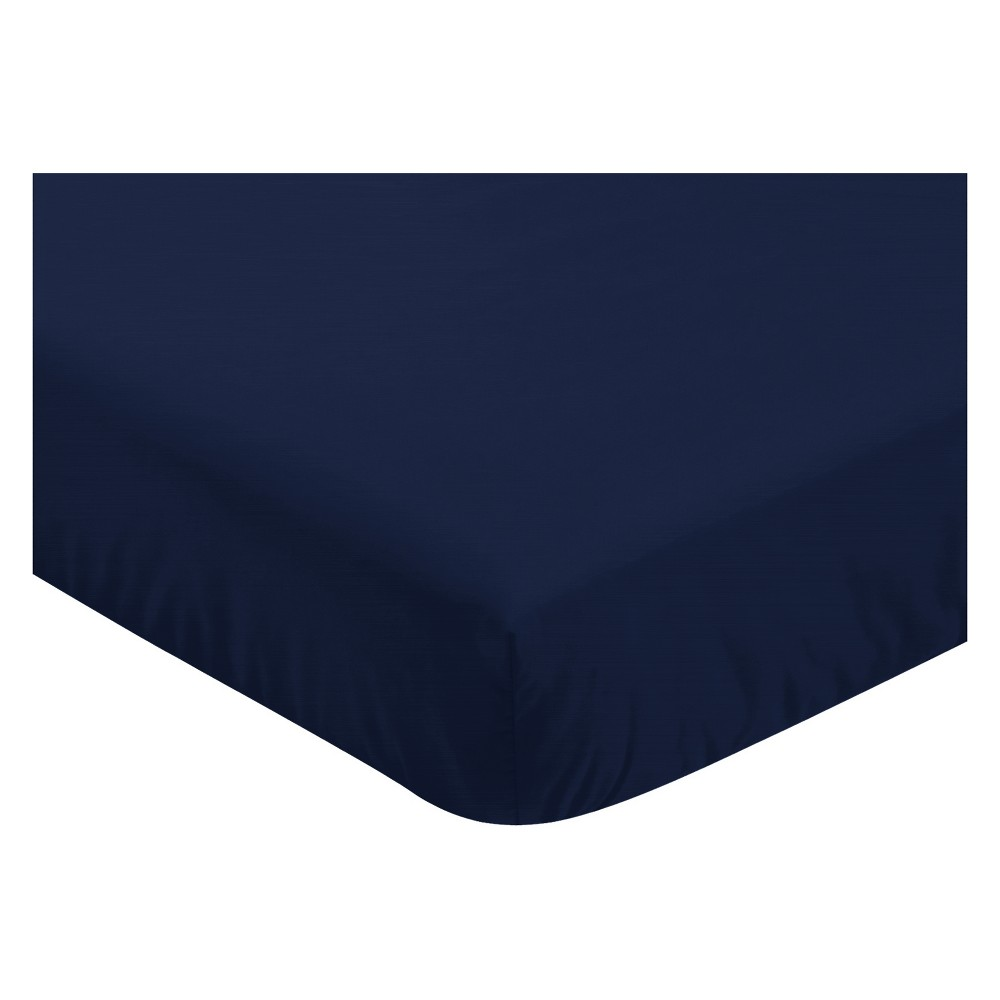 Sweet Jojo Designs Fitted Crib Sheet - Mountains - Navy Blue