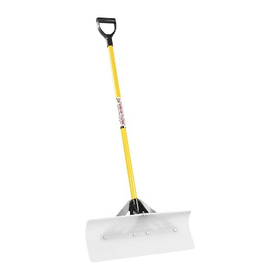 THE SNOWPLOW The Original 24 Inch Wide Blade Snow Remover Plow Pusher Scoop Hand Shovel with Ergonomic Fiberglass Handle