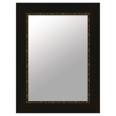 "10"" x 13"" Rectangle Black Decorative Mirror - PTM Images"
