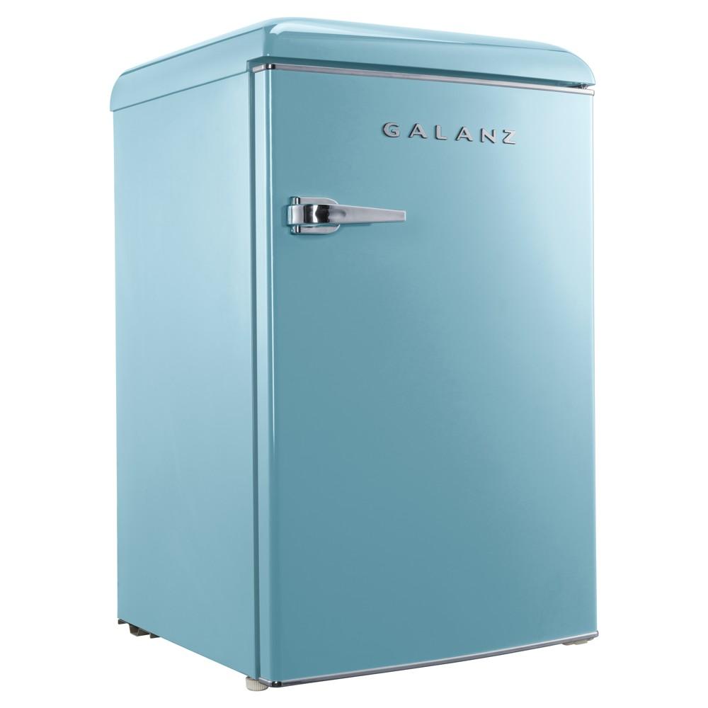 Image of Galanz 4.4 cu. Ft Retro Mini Fridge Blue