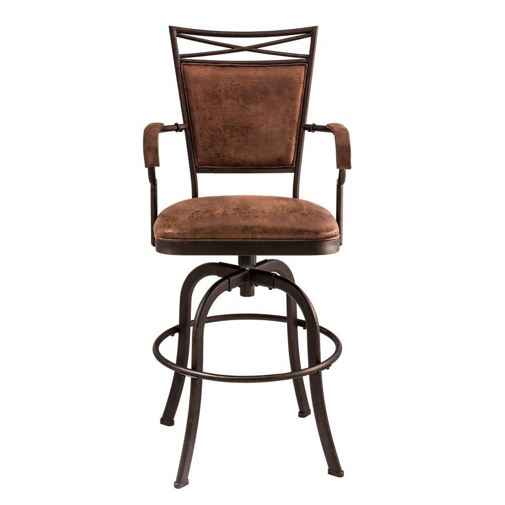 Bridgetown Tilt Base Bar Stool - Aged Bronze - Hillsdale Furniture