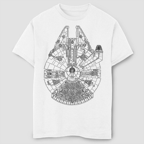 Boys' Star Wars Millennium Falcon T-Shirt - White - image 1 of 1