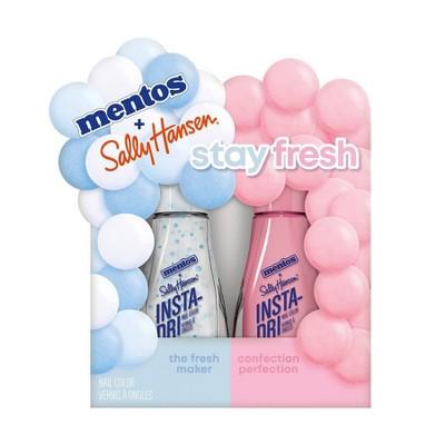 Sally Hansen Insta-Dri Mentos Nail Color Duo Pack - Stay Fresh - 2pc/0.31 fl oz