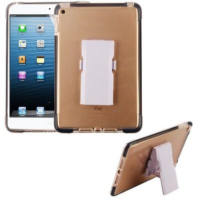 MYBAT For Apple iPad Mini 4 Clear Black Bumper Hard TPU Plastic Case Cover Holster