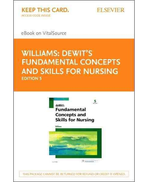 Dewit's Fundamental Concepts and Skills for Nursing - Elsevier Ebook on Vitalsource : Elsevier Ebook on - image 1 of 1