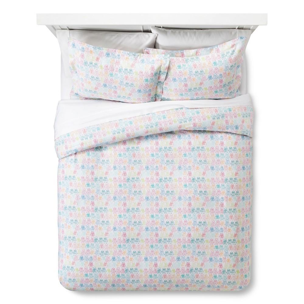 Penguin Flannel Duvet Set (Full/Queen) - Pillowfort, Multicolored
