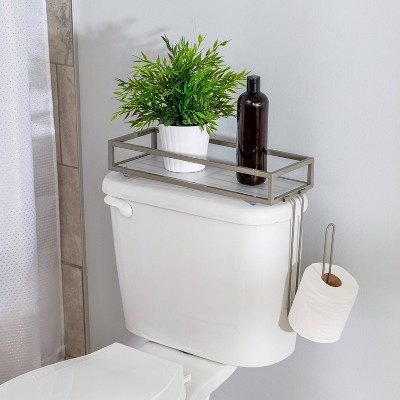 Toilet Storage Tray Brushed Nickel - Honey Can Do