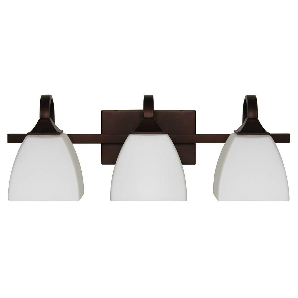 Image of Starling Three Light Vanity Bronze - Sunset Lighting