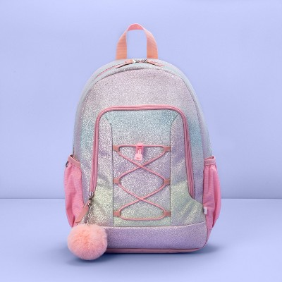 """16.5"""" Kids' Backpack Ombre Glitter Rainbow - More Than Magic™"""