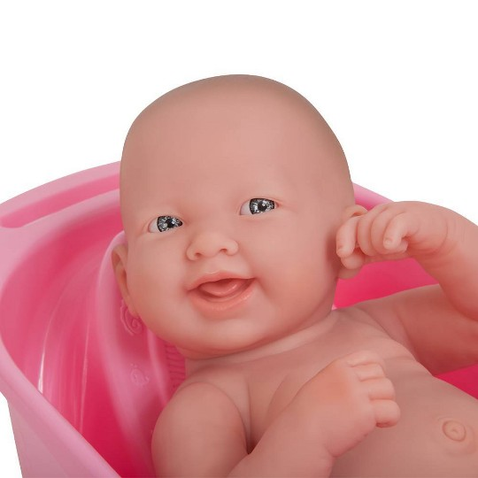 """JC Toys La Newborn 14"""" Deluxe Bath Doll Set with Accessories image number null"""