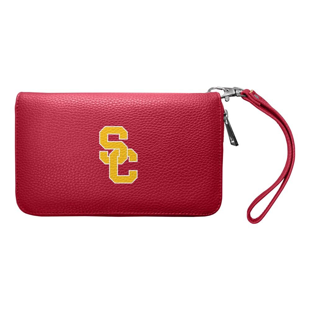NCAA Usc Trojans Zip Pebble Organizer Wallet, Adult Unisex