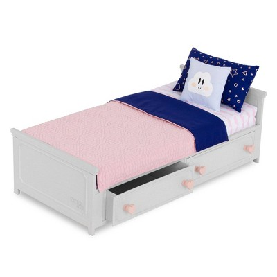 """Our Generation Starry Slumbers Platform Bed Furniture Accessory Set for 18"""" Dolls"""