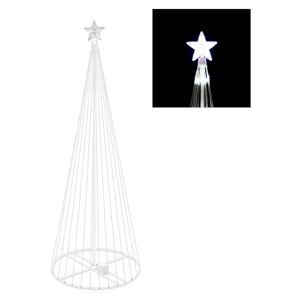 Image of 4' x 24 Led 152 Cool Light Show Tree - Cool White