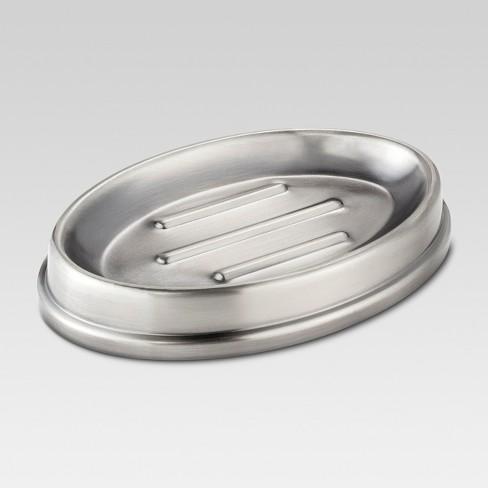 Antique Soap Dish Pewter - Threshold™ - image 1 of 1