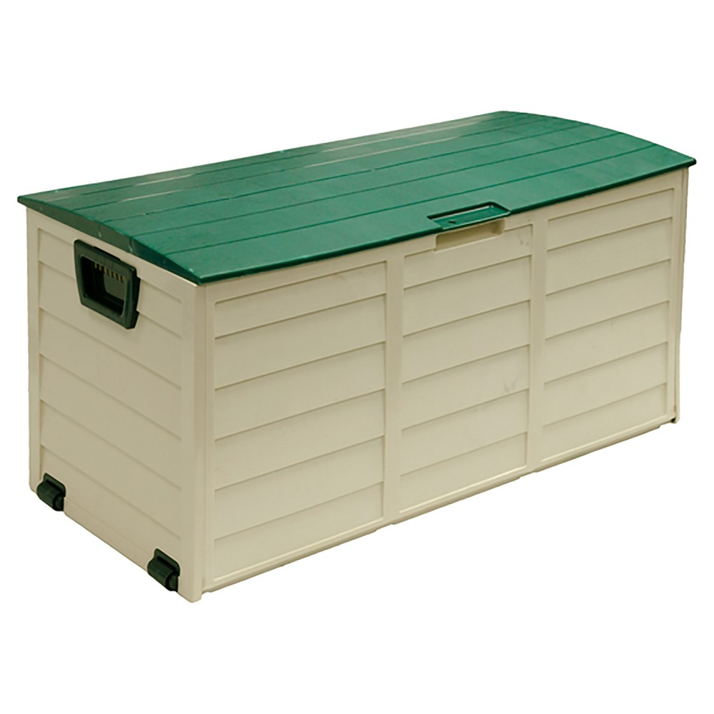 Image of Deck Box 60 Gallon - Beige/Green - Starplast
