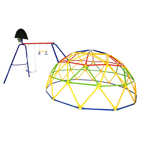 Skywalker Sports Geo Dome Climber With Swing Set Target