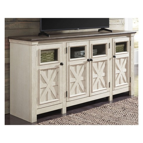 Bolanburg Extra Large Tv Stand Brown White Signature Design By