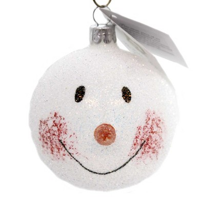 "Golden Bell Collection 3.0"" Snowman Face Ornament Czech Republic  -  Tree Ornaments"