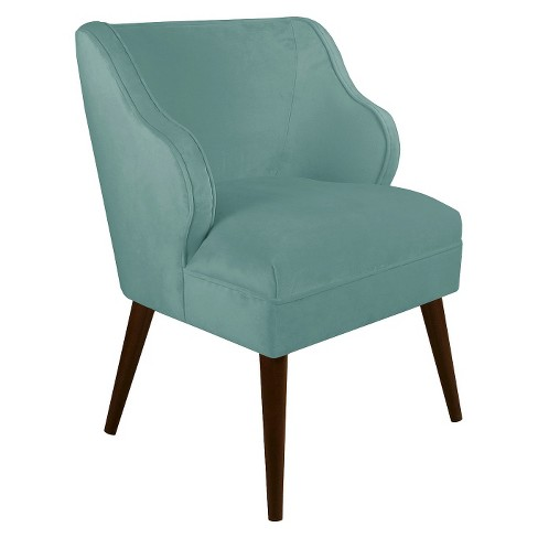 Mandolene Mid-Century Arm Chair Velvet Caribbean - Project 62™ - image 1 of 1