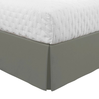 Luxury Hotel Twin Classic Tailored Bed Skirt Silver Gray