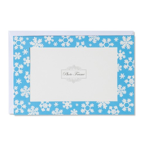 American greetings 10ct snowflakes photo holder holiday boxed cards about this item m4hsunfo