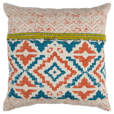 Natural Geometric Throw Pillow - Rizzy Home