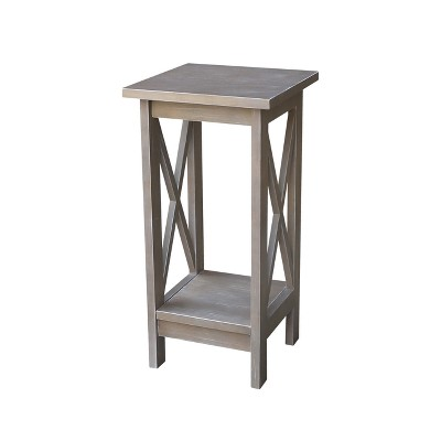 Solid Wood X - Sided Plant Stand Weathered Gray - International Concepts