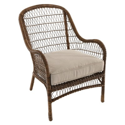 Open Weave Wicker Patio Accent Chair - Tan - Threshold™