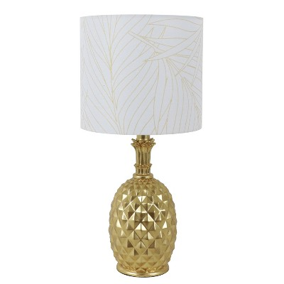 """19"""" Modern Pineapple Table Lamp Gold Leaf - Decor Therapy"""