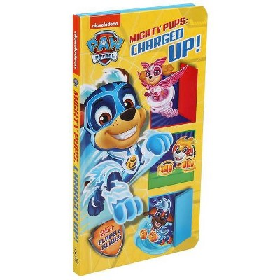 PAW Patrol Mighty Pups Charged Up Lift & Slide - by Maggie Fischer (Board Book)