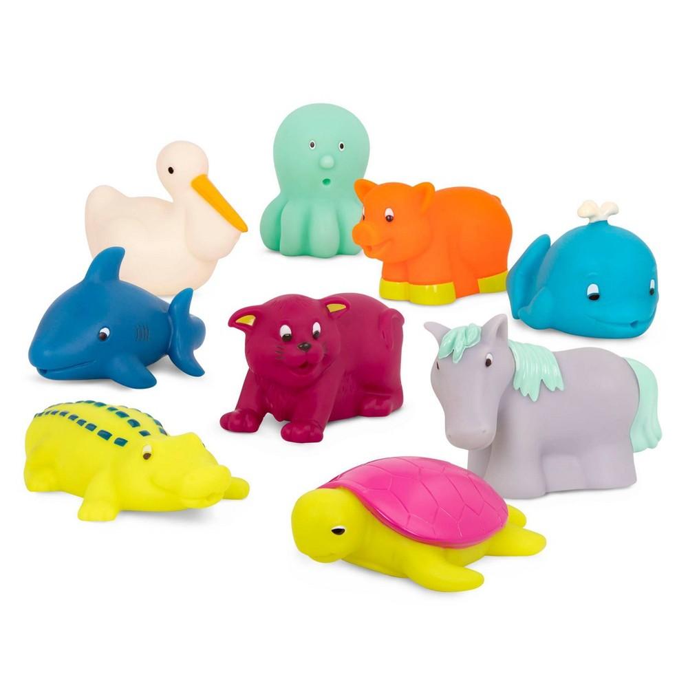 B. Toys Bath Buddies Set with Cat 9pk