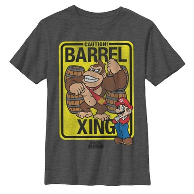 Boy's Nintendo Donkey Kong Barrel Crossing T-Shirt