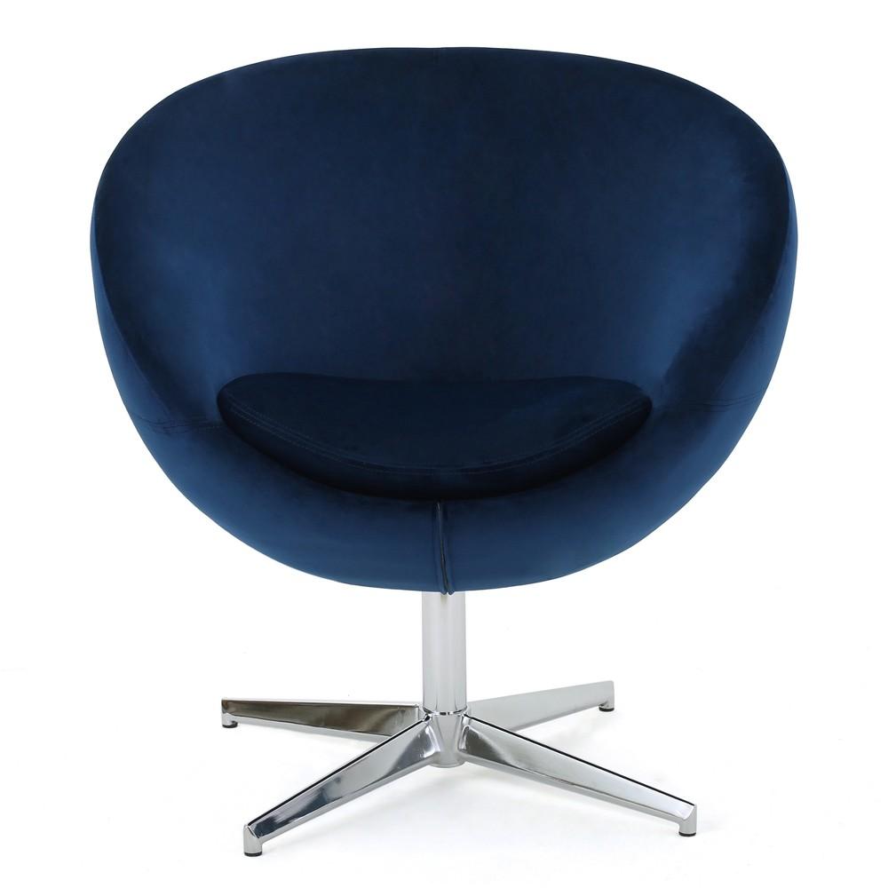 Isla Modern New Velvet Chair Navy (Blue) - Christopher Knight Home