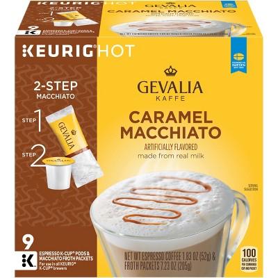 Gevalia Kaffe Caramel Macchiato Espresso Coffee - Keurig K-Cup Pods - 9ct