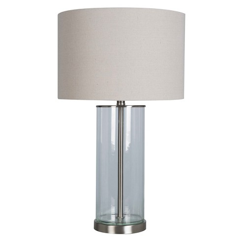 Usb Fillable Accent Table Lamp Lamp Only Brushed Nickel