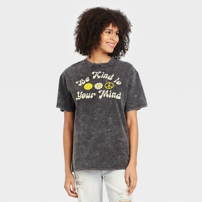 Women's Be Kind to Your Mind Short Sleeve Graphic T-Shirt - Black