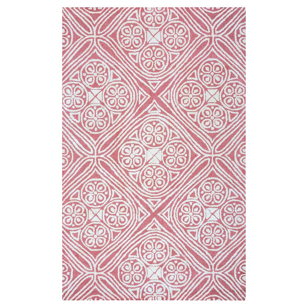 9'X12' Geometric Area Rug Cancun Coral - Rizzy Home
